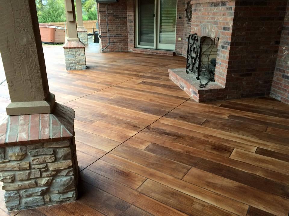 Concrete Faux Wood