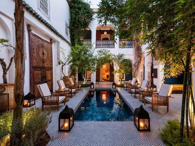 Moroccan style courtyards