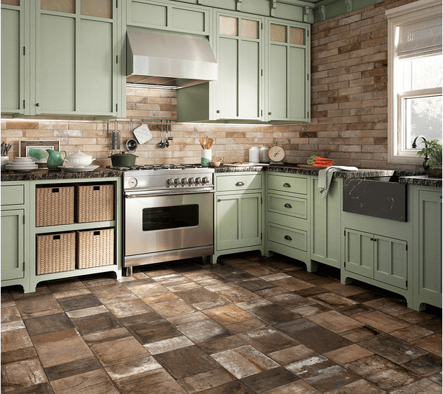 Ceramic-Stone-Tile-Floor-in-a-Modern-Kitchen-1